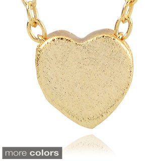 Journee Collection Sterling Silver Heart Pendant