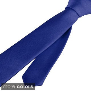 Zodaca Plain Color Men Polyester Silk Tie Neckie