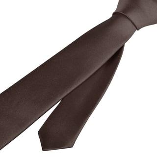 Zodaca Plain Color Men Polyester Silk Tie Neckie