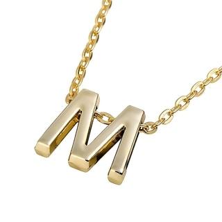 Zodaca Golden Alphabet A-M Pendant Initial Letter Necklace (18.5 - 20.5 inch)