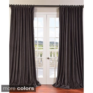 Exclusive Fabrics Extra Wide Vintage Cotton Velvet Curtain Panel