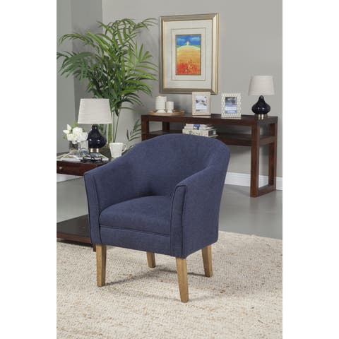 Porch & Den Kingswell Navy Chunky Textured Accent Chair