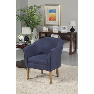 HomePop Navy Chunky Textured Accent Chair