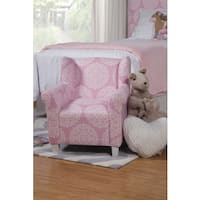 Homepop Cameron Juvenile Swoop Arm Accent Chair Free
