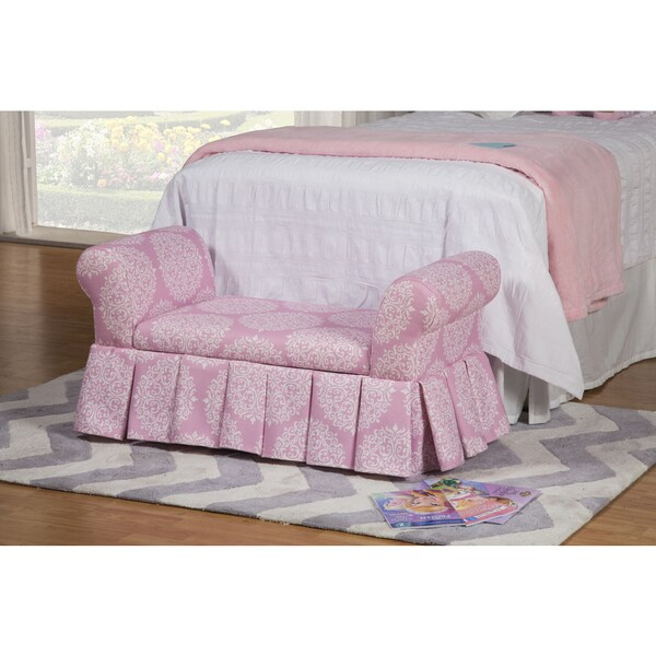 Homepop Kids 39 Pink Storage Bench Settee Free Shipping