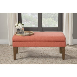 Shop Homepop Teal Chunky Textured Decorative Storage Bench