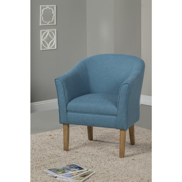 Homepop Teal Chunky Textured Accent Chair Free Shipping