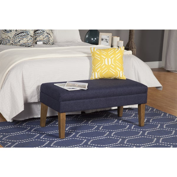 Homepop Navy Chunky Textured Decorative Storage Bench Free Shipping Today