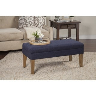 HomePop Navy Chunky Textured Decorative Storage Bench