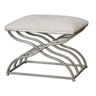 Uttermost Shea Satin Nickel Metal Bench