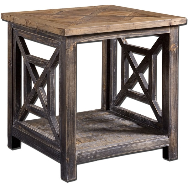 Merveilleux Uttermost Spiro Wood End Table