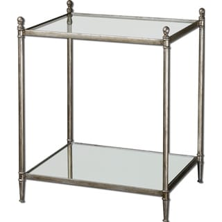 Uttermost Gannon Morrored Glass End Table