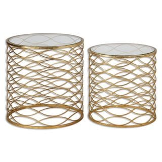 Uttermost Zoa Gold Accent Table (Set of 2)