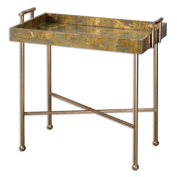 Coffee Table Tray Home Goods: Shop Uttermost Couper Oxidized Tray Table