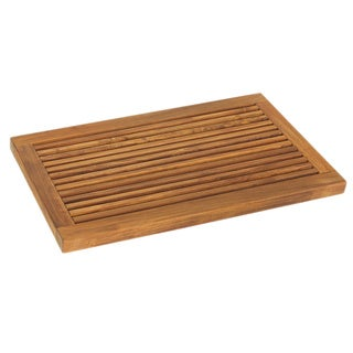 Bare Decor Dasha Teak Bath Mat