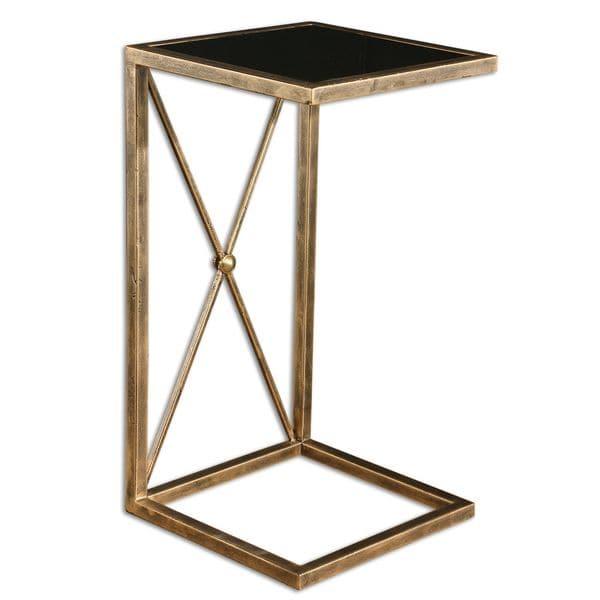 Good Uttermost Zafina Gold Side Table