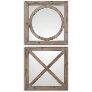 Uttermost Baci E Abbracci Wooden Mirrors (Set of 2)