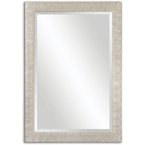 Uttermost Porcius Antiqued Silver Bevelled Mirror - Antique Silver - 29x41x0.75