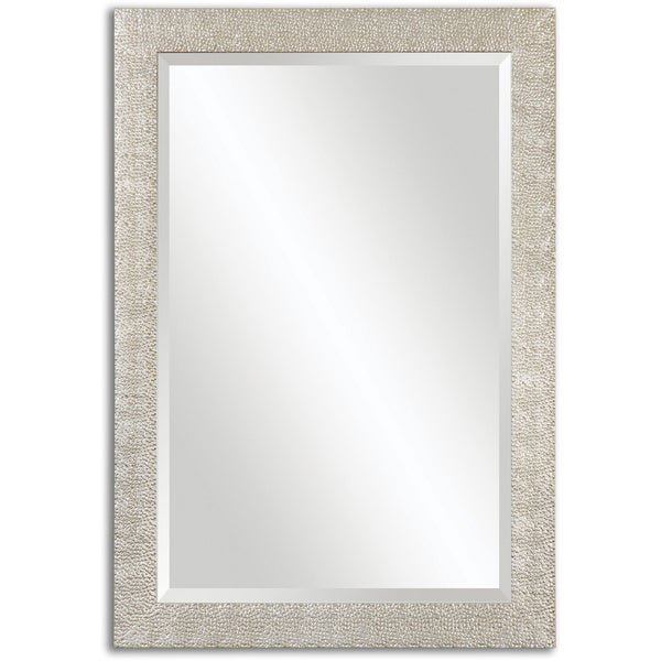 Uttermost Porcius Antiqued Silver Bevelled Mirror - Antique Silver - 29x41x0.75. Opens flyout.