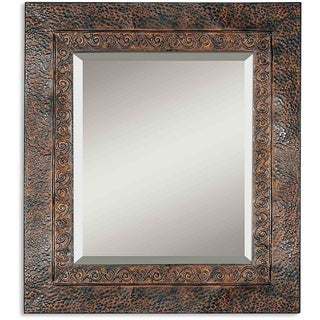 Uttermost Jackson Rustic Metal Wall Mirror - Brown/Black - 30x34x0.75