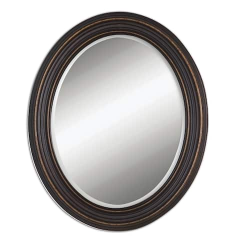 Uttermost Ovesca Oval Wall Mirror - Bronze - 28x34x1.25