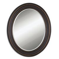 Uttermost Ovesca Bronze Finish Frame Oval Wall Mirror