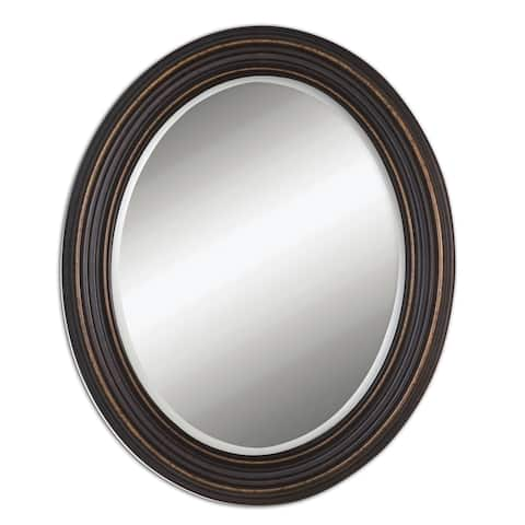 Uttermost Ovesca Oval Wall Mirror - Bronze - 28x34x1.25