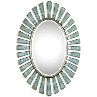 Uttermost Morvoren Blue-Gray Oval Decorative Wall Mirror