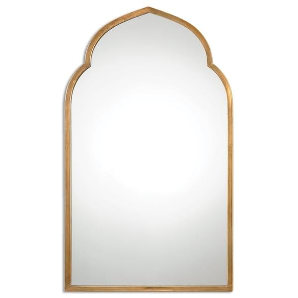 Uttermost Kenitra Gold Arch Decorative Wall Mirror - Antique Silver - 24x40x1.125