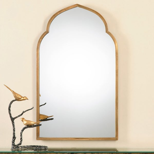 Uttermost Kenitra Gold Arch Decorative Wall Mirror