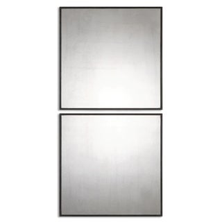 Uttermost Matty Antiqued Square Wall Mirrors (Set of 2)