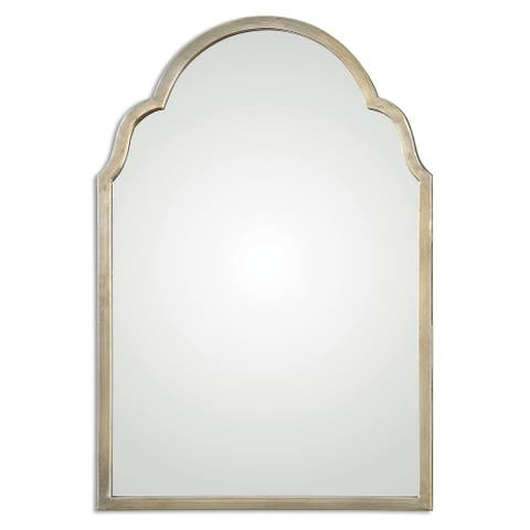 Uttermost Brayden Petite Silver Arch Decorative Wall Mirror - Champagne/Silver - 20.125x30.125x1.125
