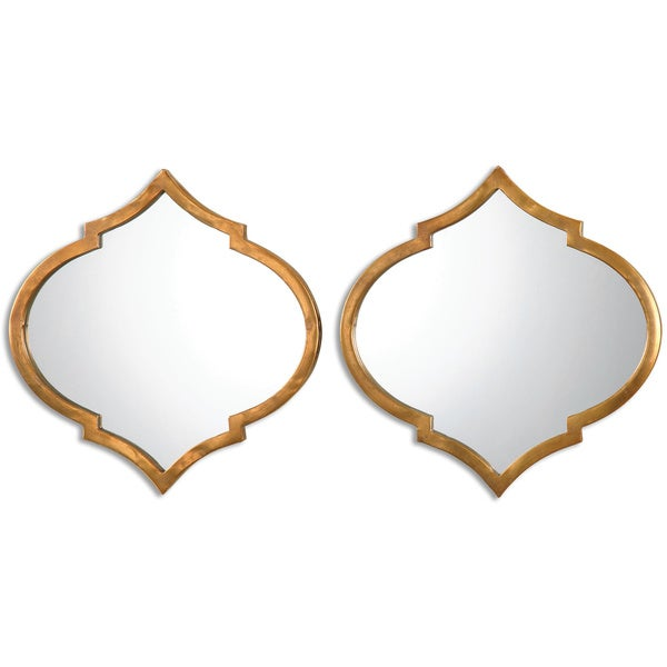 Uttermost Jebel Antique Gold Decorative Wall Mirrors Set