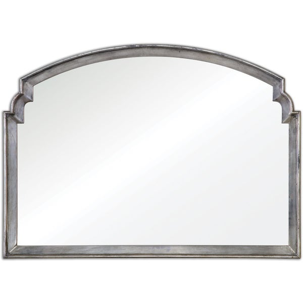 Uttermost Via Della Silver Decorative Wall Mirror - Antique Silver - 41.875x29.25x1.25
