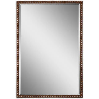 Uttermost Tempe Distressed Brown Rectangle Decorative Wall Mirror