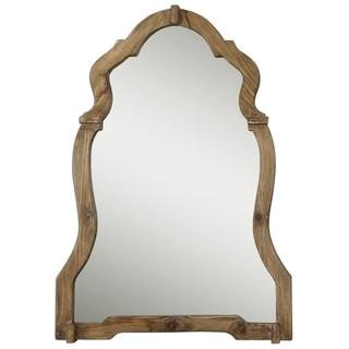 Uttermost Agustin Light Walnut Decorative Mirror - Natural - 30.25x42.75x2