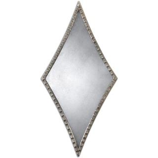 Uttermost Gelston Silver Diamond Decorative Mirror (Set of 2) - Antique Silver - 13.5x27.25x1
