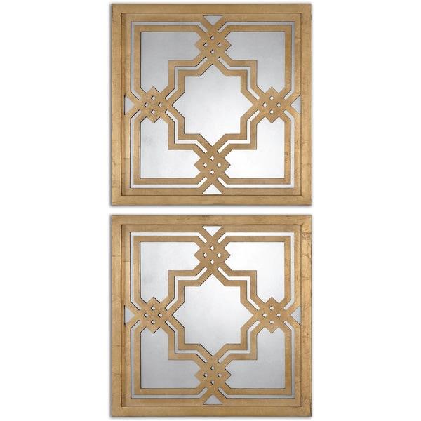Shop Uttermost Piazzale Gold Square Decorative Mirrors ...