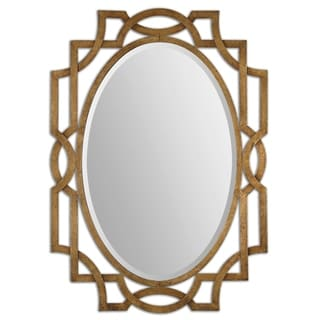 Uttermost Margutta Gold Decorative Oval Mirror