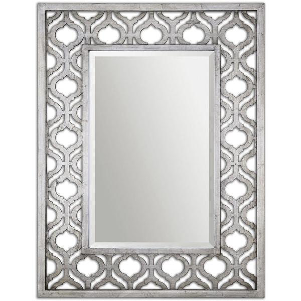 Uttermost Sorbolo Silver Decorative Mirror - Antique Silver - 30.75x40.375x2.25