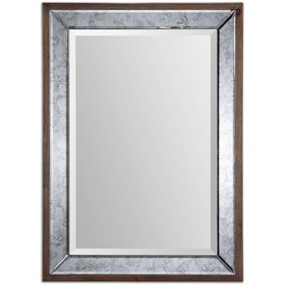 Uttermost Daria Antique Framed Mirror - Natural - 27x37x1.5