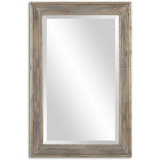 Uttermost Quintina Pine Mirror - Antique Silver - 23.5x35.5x1.125