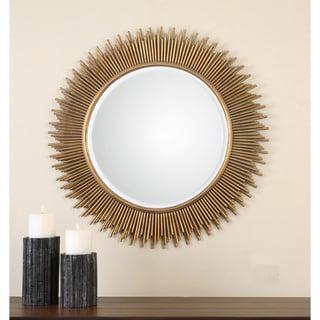 Uttermost Marlo Round Gold Mirror