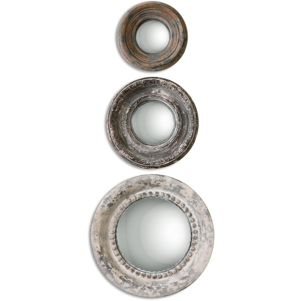 shop uttermost adelfia round mirrors set of 3 free shipping today 9729386. Black Bedroom Furniture Sets. Home Design Ideas
