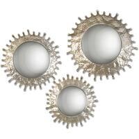 Uttermost Rain Splash Round Mirrors (Set of 3) - Silver