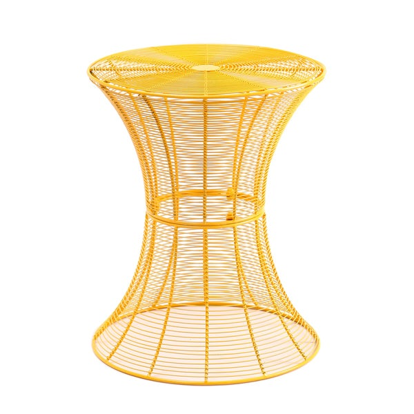 Genial Iron Round Yellow End/ Side Table