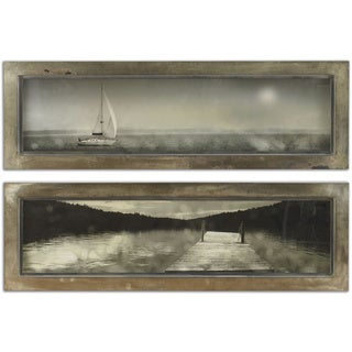 Uttermost Twillight Sail Framed Art (Set of 2)
