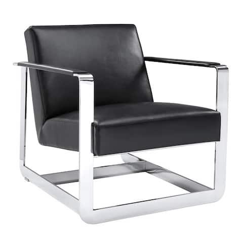 Sunpan 'Club' Clevelander Leather Armchair