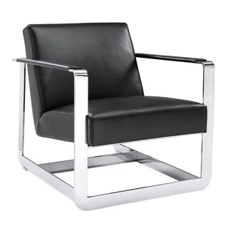 Sunpan 'Club' Clevelander Leather Armchair