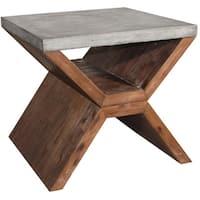 Sunpan 'MIXT' Vixen Brown End Table